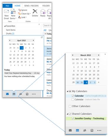 Using Outlook Shared Calendars--Creating the School Calendar